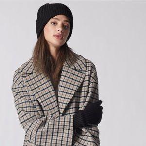 Love & Lore Black Knit Ribbed Beanie Hat